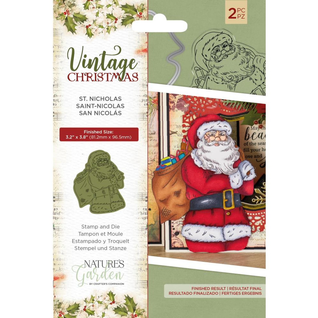 Crafter's Companion - Stamps & Dies - Nature's Garden - Vintage Christmas - St. Nicholas (NSTDSNIC)