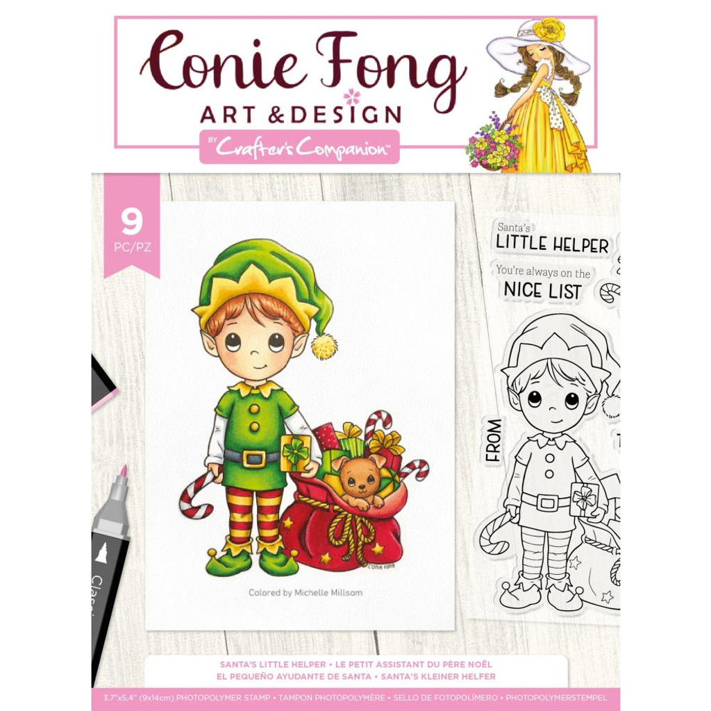 Crafter's Companion - Clear Stamps By Conie Fong - Santa's Little Helper (TPSANLH)