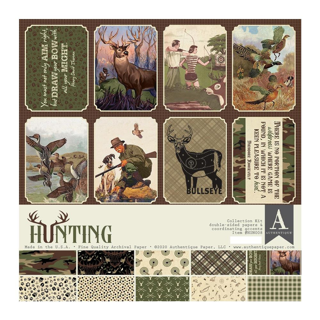 "Authentique - Collection Kit 12""X12"" - Hunting (HUN-008 ) ("