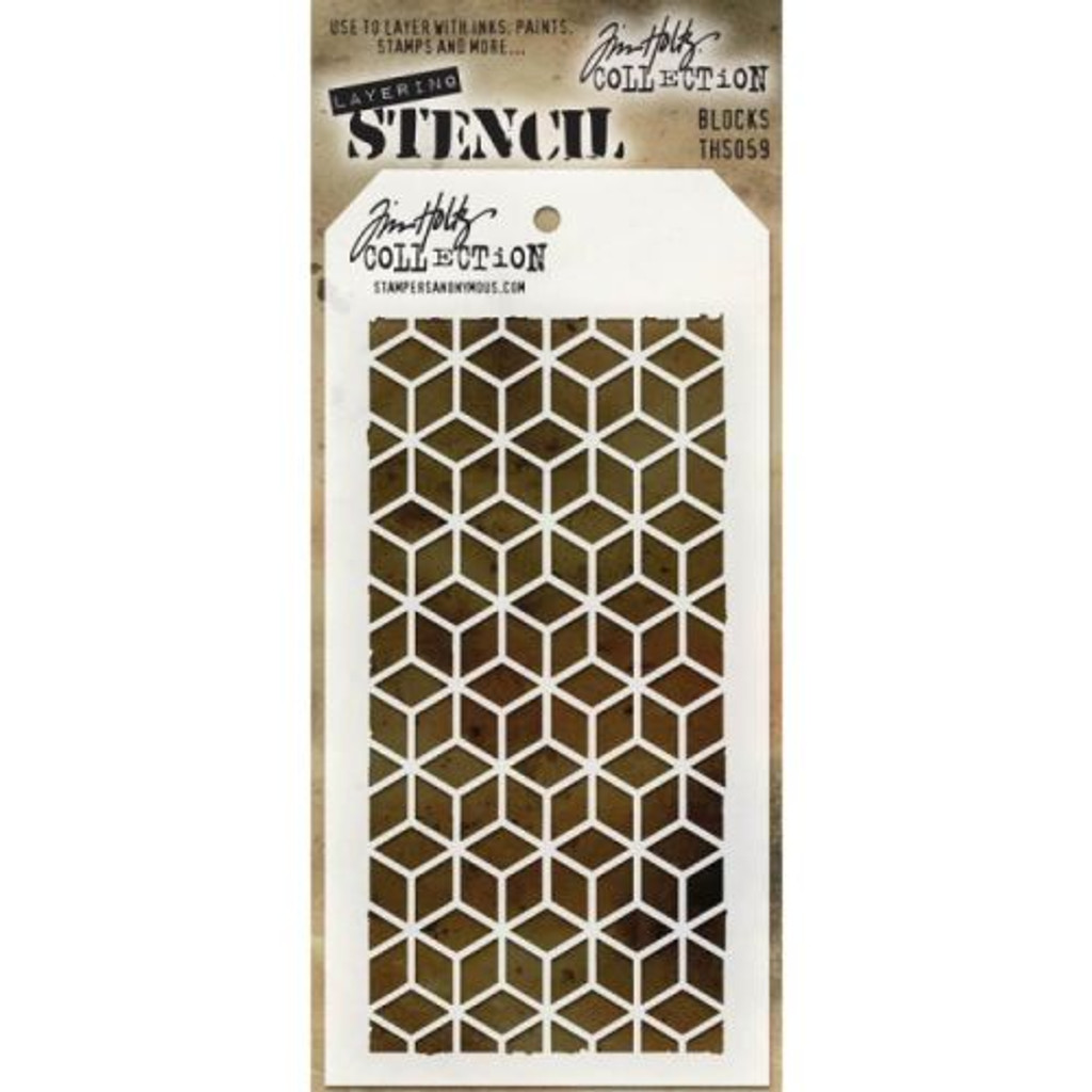 Tim Holtz - Layering Blocks Stencil - Stampers Anonymous