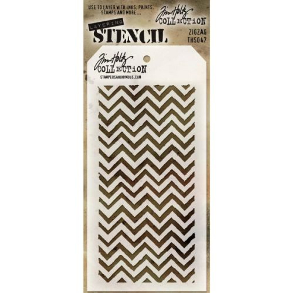 Tim Holtz-  Layering Stencil Zigzag - Stampers Anonymous