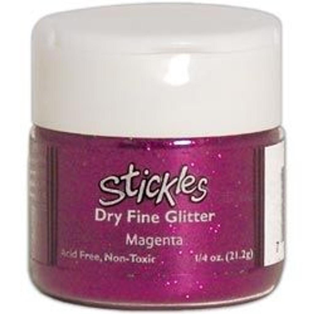 Ranger Stickles Dry Fine Glitter .75 oz. Magenta