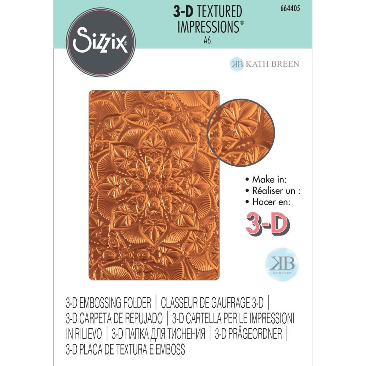 Ultimate Crafts Bella Collection Embossing Folder Rose Leaf