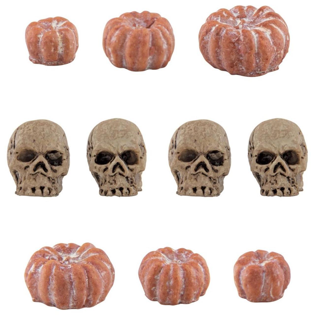 Tim Holtz Idea-ology Mini Skulls /& Pumpkins 10Pc TH94067 Halloween 2020 Retired