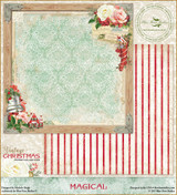 Blue Fern Studios - Vintage Christmas 1 - 12x12 dbl sided paper - Magical (BFVC1 101472)