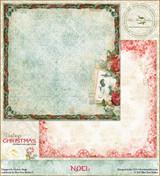 Blue Fern Studios - Vintage Christmas 1 - 12x12 dbl sided paper - Noel (BFVC1 101373)
