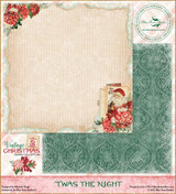 Blue Fern Studios - Vintage Christmas 2 - 12x12 dbl sided paper - Twas The Night (BFVC2 142277)