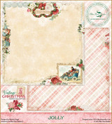 Blue Fern Studios - Vintage Christmas 2 - 12x12 dbl sided paper - Jolly (BFVC2 142376)