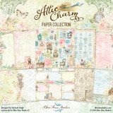 Blue Fern Studios - 20 Double Sided 12x12 Paper Collection - Attic Charm (ATCCFULL)