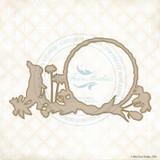 Blue Fern Studios - Chipboard - Spring Bunny Frame (818288)