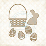 Blue Fern Studios - Chipboard - Bunny Basket Set (997319)