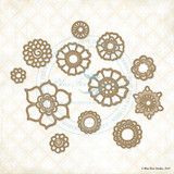 Blue Fern Studio - Chipboard - Bohemian Flowers  (274459)