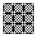 Knot Garden Crafters Workshop Ronda Palazzari 6x6 Stencil (236430)