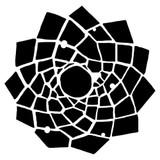 Trapezoid Flower by Kasia Krzyminska - Crafter's Workshop Template Stencil 6x6 (236494)