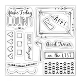 Sizzix - Katelyn Lizardi - Framelits Die Set 10PK w/Stamps - Make Today Count (661256)