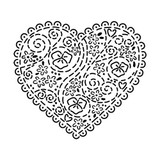 Crafters Workshop Ronda Palazzari 12x12 Stencil Embroidered Heart (237435)