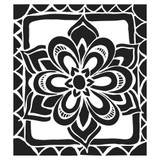 Crafters Workshop Joanne Fink 12x12 Stencil Zen Flower