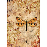 Stamperia - Dragonfly - Decoupage Rice Paper 8.25 x 11.5 DFSA4239