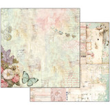 Stamperia - Wonderland - Double sided 12x12 Paper - Flowers & Butterflies SBB539