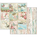 Stamperia - Wonderland - Double sided 12x12 Paper - Butterflies & Unicorn Cards SBB536