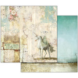 Stamperia - Wonderland - Double sided 12x12 Paper - Unicorn SBB535