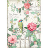 Stamperia - Gate with Bird - Decoupage Rice Paper 8.25 x 11.5 (DFSA4210)