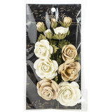 Graphic 45 Staples Rose Bouquet Collection 15/Pkg - Classic Ivory & Natural Linen (G4501784)