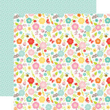"Spring Flowers - Hello Spring - Echo Park - Double-Sided Cardstock 12""X12"" (HES14405)"