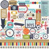 Echo Park Paper - Lori Whitlock - 12x12 Element Sticker Sheet - That's My Boy (TMB60014)