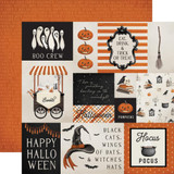 Carta Bella - Double-Sided Cardstock 12x12 - Halloween Market - Multi Journaling Cards (CBHM121 13)