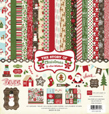 Echo Park - Lori Whitlock - 12x12 Element Sticker Sheet - The Story of Christmas (TSC94014)