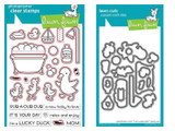 Lawn Fawn - Coordinating Clear Stamp LF1583 & Die LF1584 Bundle - Rub-A-Dub-Dub (LF1583)