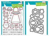 Lawn Fawn - Coordinating Clear Stamp LF1597 & Die LF1598 Buldle - Beam Me Up (LF1597)