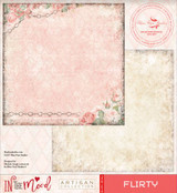 Blue Fern Studios Scrapbooking Paper - In the Mood - Flirty (842382)