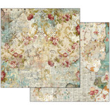 Stamperia - Double sided 12x12 Paper - Time Is An Illusion Floral Texture SBB520