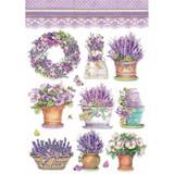 Stamperia - Decoupage Rice Paper 8.25 x 11.5 - Provence - Lavender Vase (DFSA4456)