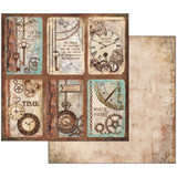Stamperia - Double sided 12x12 Paper - Clockwise With Cards  SBB533