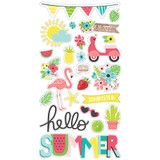 "Simple Stories - Chipboard Stickers 6""X12"" - Hello Summer (HEL10152)"