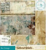 Blue Fern Studios - Tattered Walls 12x12 dbl sided paper - The Garage (62848384)