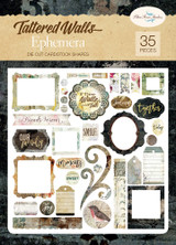Blue Fern Studios - Ephemera - Die cuts - 35/pc - Tattered Walls (62848483)