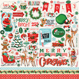 "Carta Bella - Cardstock Stickers 12""X12"" - Santa's Workshop (CBSW90014)"