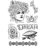 Imagine - Dream - Graphic 45 Clear Acrylic Stamps (G4501706)