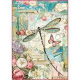 Stamperia - Wonderland Dragonfly - Decoupage Rice Paper 8.25 x 11.5 DFSA4309