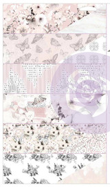 Prima - Cherry Blossom - 6 sheets (1 each of 6 designs) Double sided 12x12 Paper w/Foil Accents