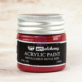 Prima Finnabair Acrylic Paint Metallique Royal Red