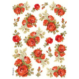 Stamperia - Red Roses - Decoupage Rice Paper 8.25 x 11.5 (DFSA4154)