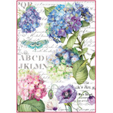 Stamperia - Hortensia & Dragonfly - Decoupage Rice Paper 8.25 x 11.5 (DFSA4307)