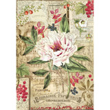 Stamperia - Peony With Red Berries - Decoupage Rice Paper 8.25 x 11.5 - DFSA4264
