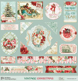 Blue Fern Studios - Chipboard 12x12 - Vintage Christmas (831287)
