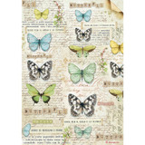 Stamperia - Butterfly - Decoupage Rice Paper 8.25 x 11.5 DFSA4178